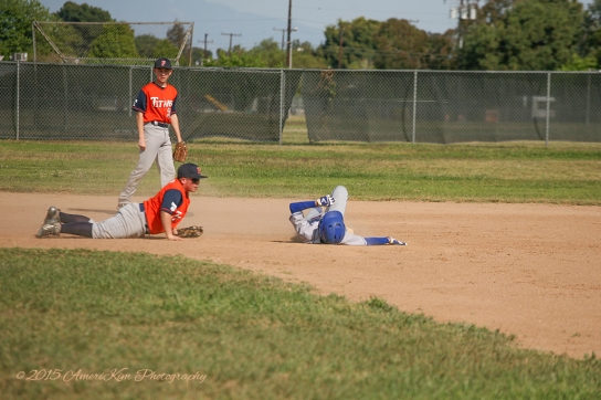 Kyle Crandall taking a little break after sliding safely into second. Whew!